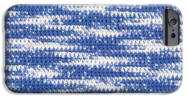 Texture Tapestries - Textiles iPhone Cases - Crochet Water Waves iPhone Case by Kerstin Ivarsson