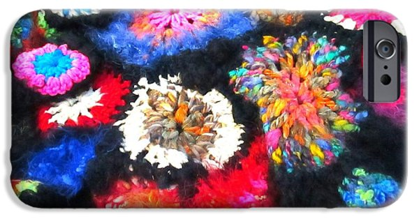 Photographs Tapestries - Textiles iPhone Cases - Crocheted Odds and Ends iPhone Case by Martha Nelson