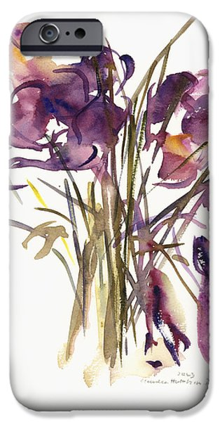 Crocus iPhone Cases - Crocus iPhone Case by Claudia Hutchins-Puechavy