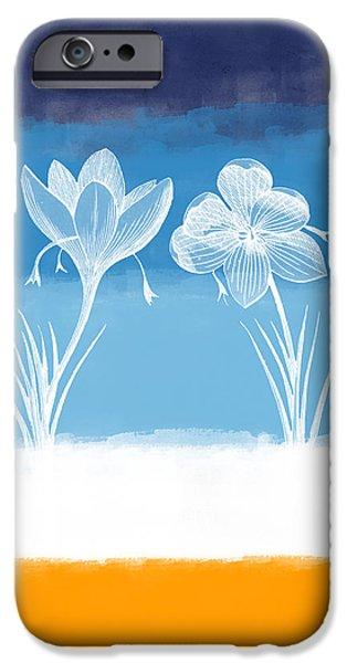 Crocus iPhone Cases - Crocus flower iPhone Case by Aged Pixel