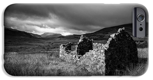 Ruin iPhone Cases - Crofters Cottage Ruin iPhone Case by Dave Bowman