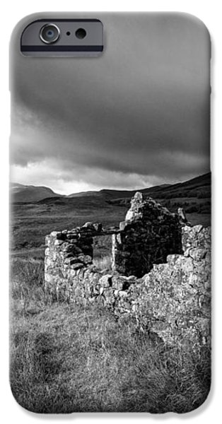 Crofters Cottage Ruin iPhone Case by Dave Bowman