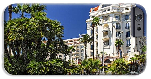 Posh iPhone Cases - Croisette promenade in Cannes iPhone Case by Elena Elisseeva