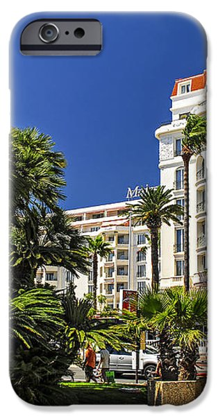 Croisette promenade in Cannes iPhone Case by Elena Elisseeva
