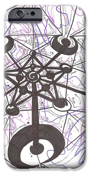 Crops Drawings iPhone Cases - Cropped iPhone Case by Anthony Tonich