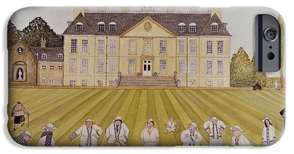 Retired iPhone Cases - Croquet On The Lawn, 1989 Watercolour On Paper iPhone Case by Gillian Lawson