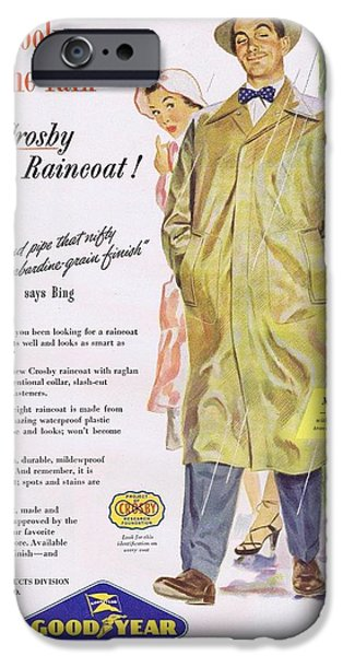 Raincoat iPhone Cases - Crosby Raincoat from Bolands iPhone Case by Steven Boland