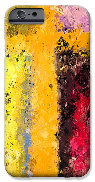 Christian Artwork Digital Art iPhone Cases - Cross Abstract IV  iPhone Case by Heidi Smith