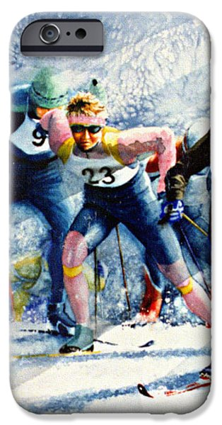 Cross-Country Challenge iPhone Case by Hanne Lore Koehler