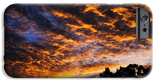 Summer iPhone Cases - Cross in the Clouds at Sunrise iPhone Case by Thomas R Fletcher