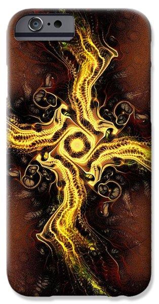 Religious iPhone Cases - Cross of Light iPhone Case by Anastasiya Malakhova