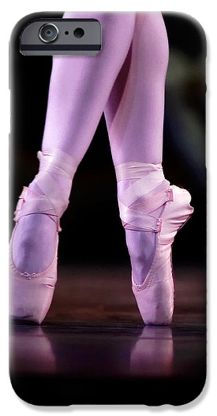 Ballet Dancers Photographs iPhone Cases - Cross Pointe iPhone Case by Lone  Dakota Photography