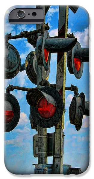 Art166.com iPhone Cases - Crossed Signals iPhone Case by Wendy J St Christopher