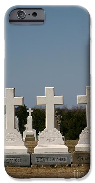 Cemetary Mixed Media iPhone Cases - Crosses iPhone Case by Art  MacKay