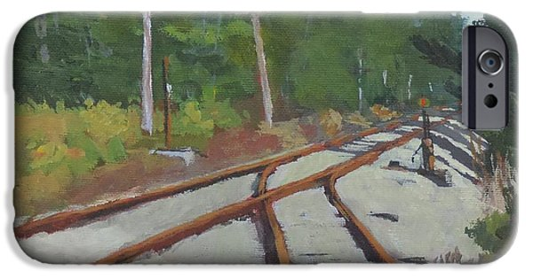 Rural Maine Roads iPhone Cases - Crossing at Cathance iPhone Case by Bill Tomsa