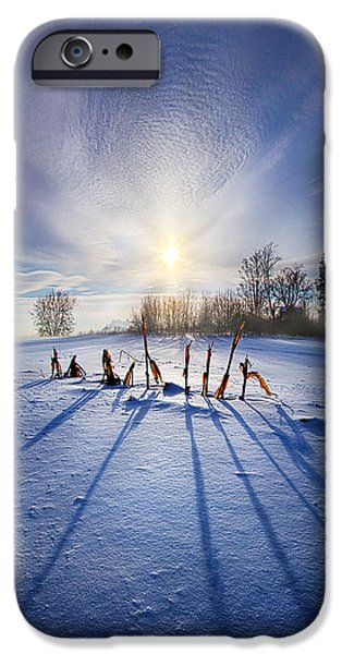 Corn iPhone Cases - Crossing the Divide iPhone Case by Phil Koch