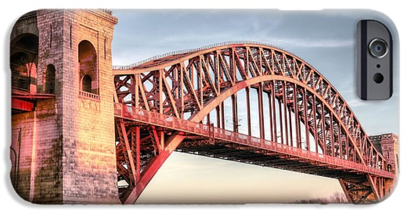 Harlem iPhone Cases - Crossing the East River iPhone Case by JC Findley