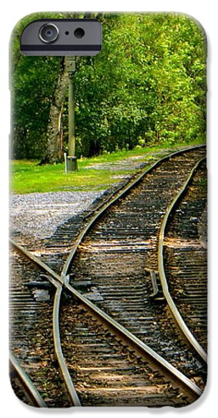 Crossing the LInes iPhone Case by Joy Hardee