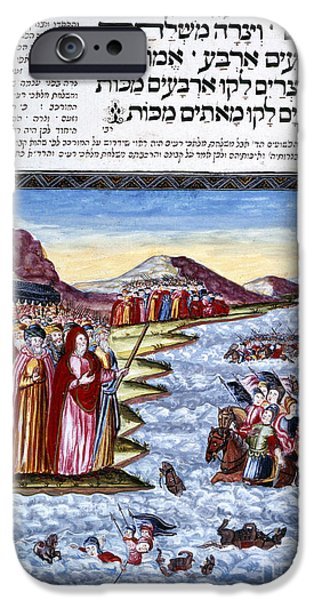 Miracle iPhone Cases - Crossing The Red Sea iPhone Case by British Library