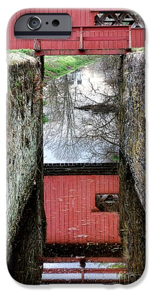 Covered Bridge iPhone Cases - Crossings iPhone Case by Olivier Le Queinec