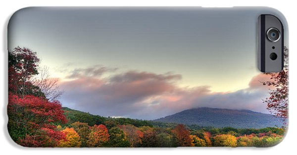 New Hampshire Fall Scenes iPhone Cases - Crotched Mountain Autumn Sunset iPhone Case by Joann Vitali