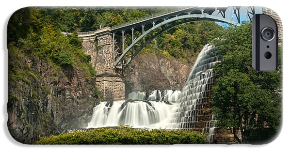 Multimedia iPhone Cases - Croton Dam Summer 2 iPhone Case by Frank Mari