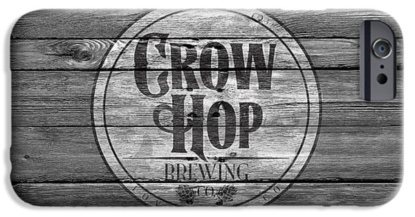 Crows iPhone Cases - Crow Hop Brewing iPhone Case by Joe Hamilton