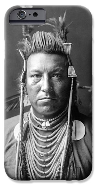 Crows Photographs iPhone Cases - Crow Indian circa 1908 iPhone Case by Aged Pixel