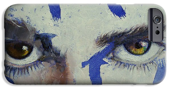 Michael Paintings iPhone Cases - Crows iPhone Case by Michael Creese