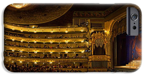Night Photography iPhone Cases - Crowd At Mariinsky Theatre, St iPhone Case by Panoramic Images