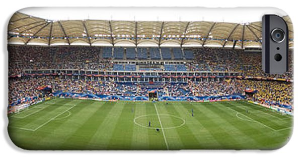 Distant iPhone Cases - Crowd In A Stadium To Watch A Soccer iPhone Case by Panoramic Images