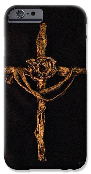 Jesus Sculptures iPhone Cases - Crown of Thorns iPhone Case by Jan Reid