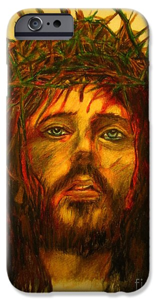 Son Of God Drawings iPhone Cases - Crown of Thorns iPhone Case by John Malone