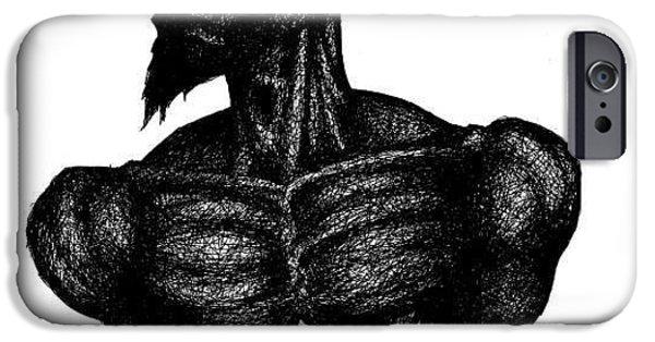 Jesus Drawings iPhone Cases - Crown of Throns iPhone Case by Cipherus Lee