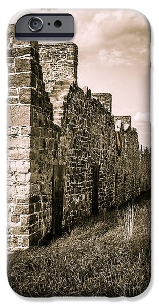 Barrack iPhone Cases - Crown Point New York Old British Fort Ruin iPhone Case by Edward Fielding