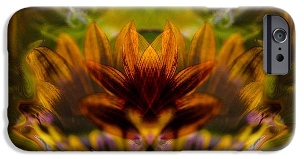 Ceramic Mixed Media iPhone Cases - Crowned  iPhone Case by Omaste Witkowski