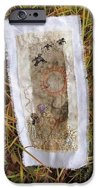 Crows Tapestries - Textiles iPhone Cases - Crows in Flight iPhone Case by Linda Marcille