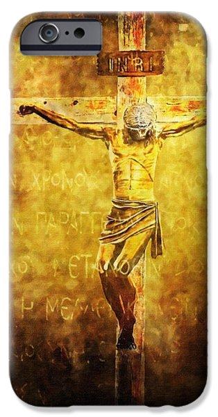Crucified Via Dolorosa 12 iPhone Case by Lianne Schneider