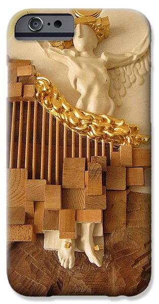 Jesus Sculptures iPhone Cases - Crucifix iPhone Case by Wilfried  Senoner