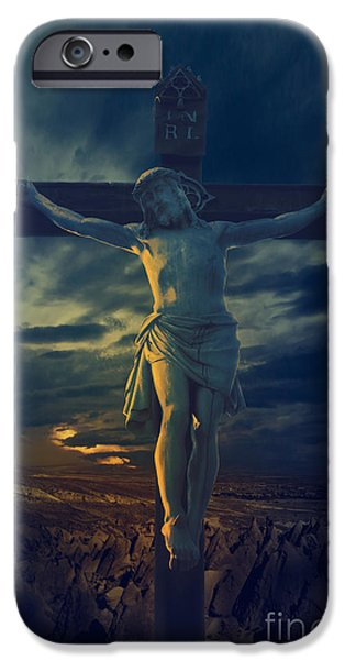 Resurrection iPhone Cases - Crucifixcion iPhone Case by Jelena Jovanovic