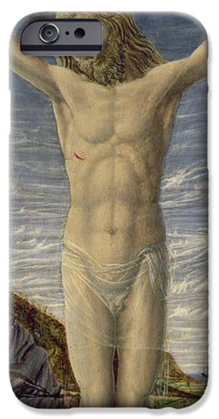 Wounded iPhone Cases - Crucifixion  iPhone Case by Master of the Barberini Panels