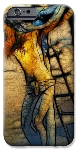 Turin Digital Art iPhone Cases - Crucifixion - Stained Glass iPhone Case by Ray Downing