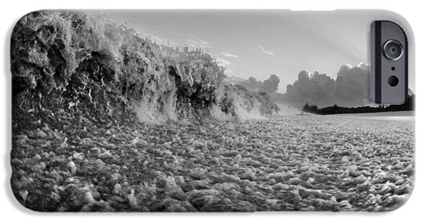 Big Wave iPhone Cases - Cruel Tide iPhone Case by Sean Davey
