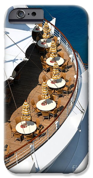 Cruise Ship Symmetry iPhone Case by Amy Cicconi