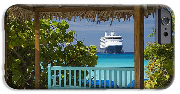Half Moon Cay iPhone Cases - Cruise View - Bahamas iPhone Case by Brian Jannsen