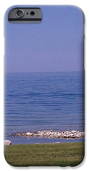 cruisin down the Bay on a Sunday afternoon iPhone Case by Dawn Koepp