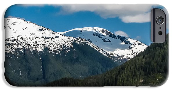 Haybale iPhone Cases - Cruising Alaska iPhone Case by Robert Bales