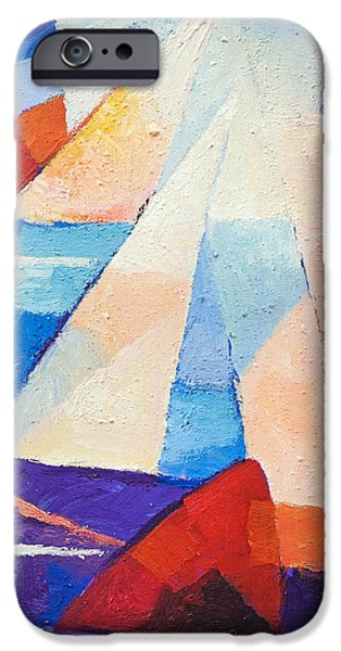 Abstract Seascape iPhone Cases - Cruising iPhone Case by Lutz Baar
