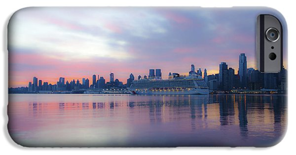 Hudson River Digital iPhone Cases - Cruising the Hudson iPhone Case by Bill Cannon