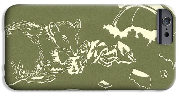 Charlotte Reliefs iPhone Cases - Crunchy iPhone Case by Liz Llewellyn